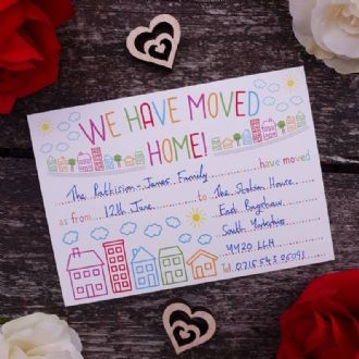 New Home // Moving Cards // Change of Address Cards & Envelopes - We Have Moved Home - 1 Pack of 8